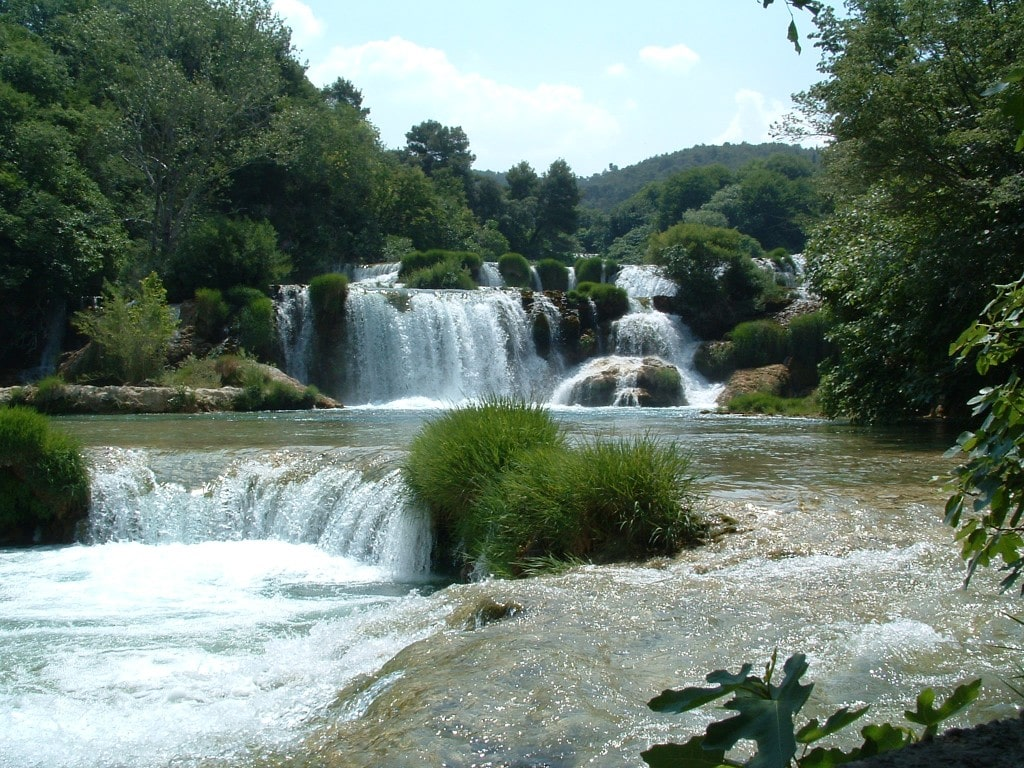 נהר קרקא. זורם גם בקרואטיה